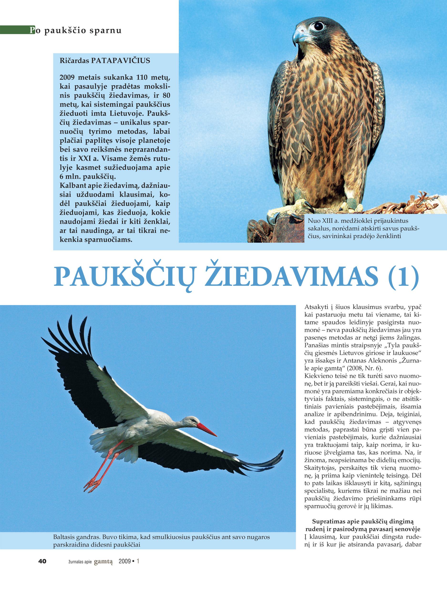 Zurnalas apie gamta 2009 nr1 new.indd